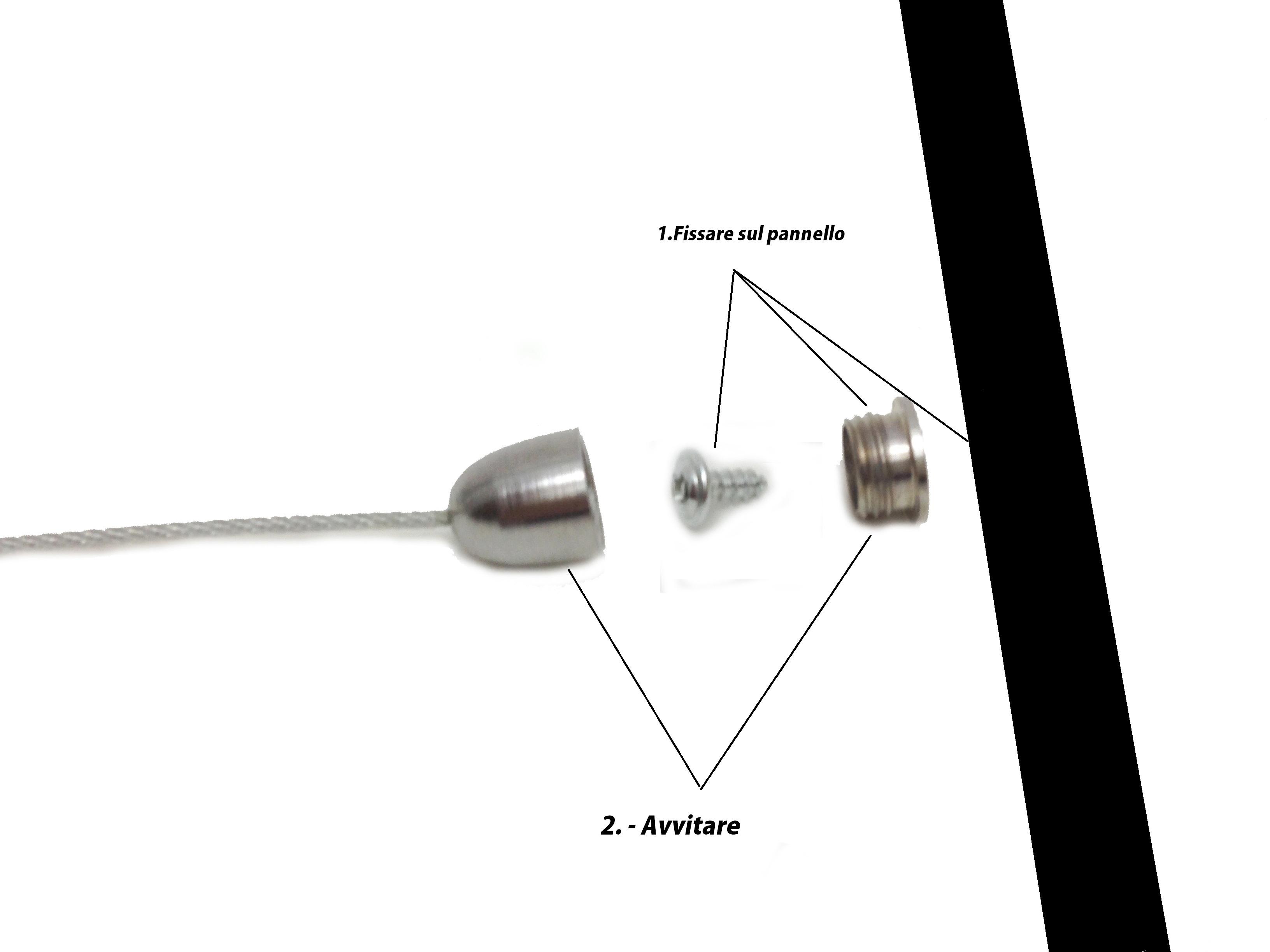 Faretti Cavi Acciaio : Faretti Da Cavo: Philips - cavo da 2 m per ...