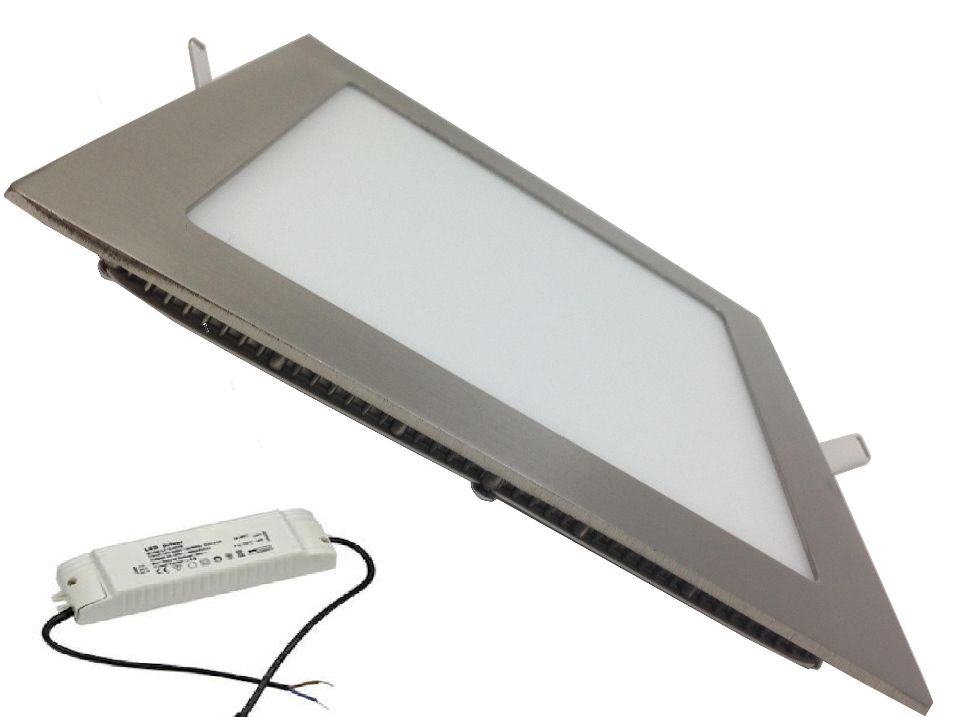 QUADRO-SMD2835-18W-SQ_SH - Faretti e Fari LED - - Faretto LED quadrato, in acciaio, 18W da ...