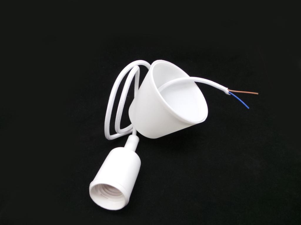 Pen bianco lampadari a sospensione silamp cavo e27 for Lampadari con filo lungo