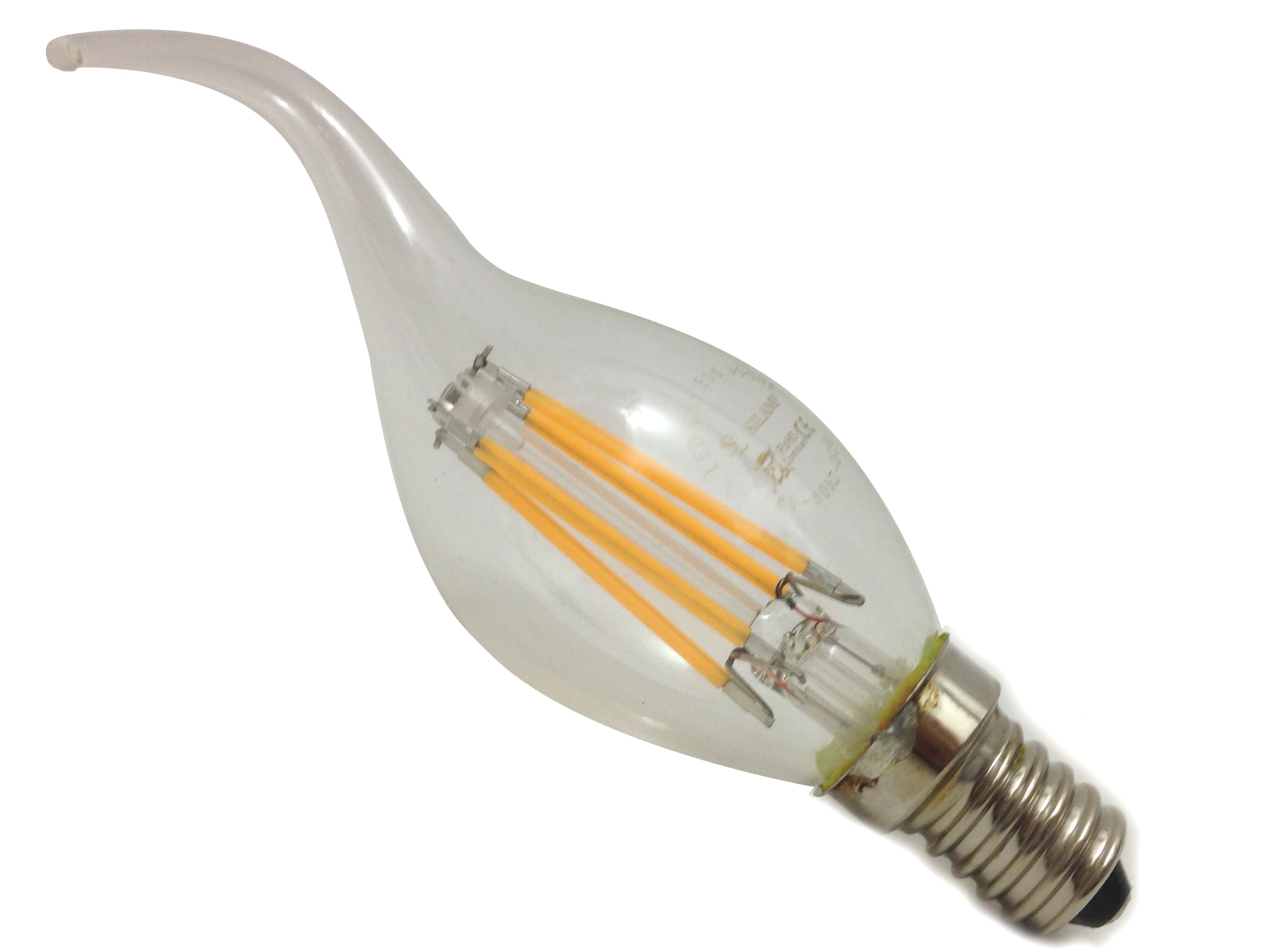 Lampadina led luce calda e14 6w colpo di vento attacco for Lampadine al led luce calda