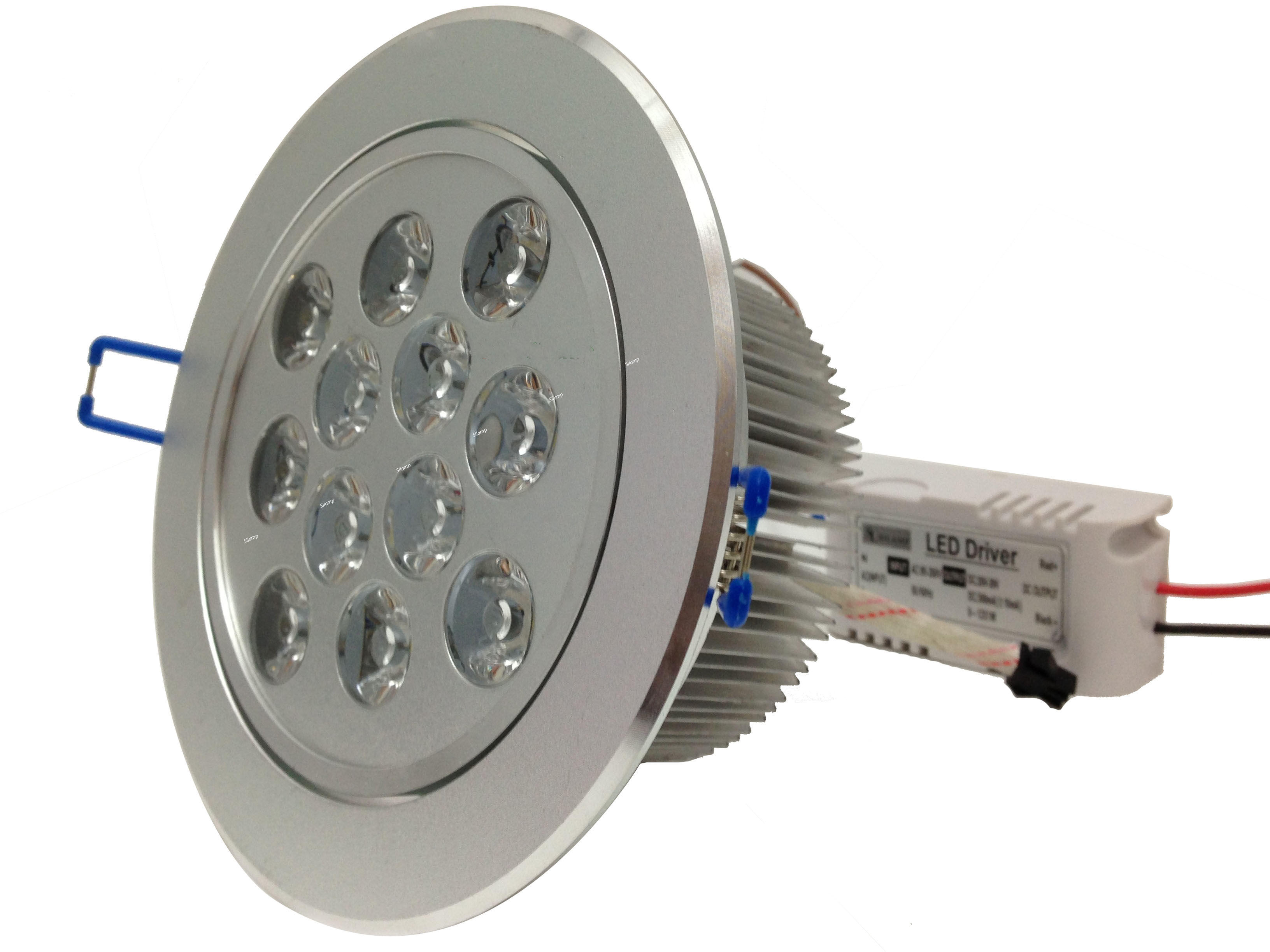 Plafoniere Neon Bricoman : 57 led 12x1w faretti e ghiere ad incasso 132