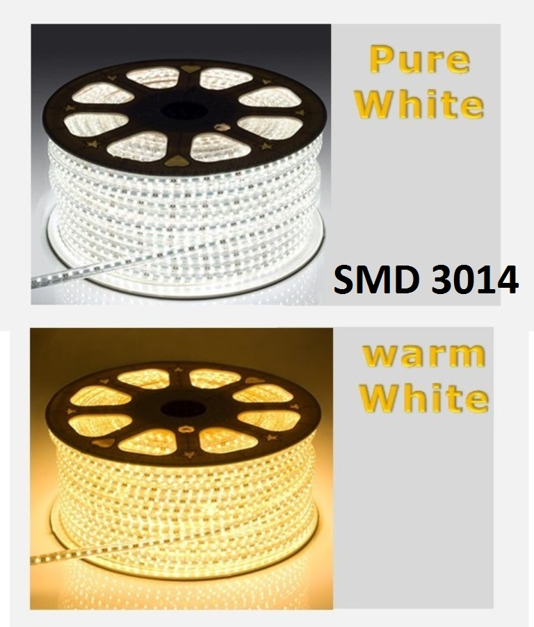 100metri Striscia Led 220V smd 3014 strip 1200W 12000 led Strisce calda fredda