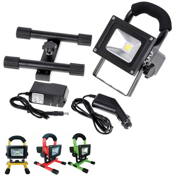 Lighthouse LED torch lights 10w Portable Rechargeable Battery Included With bracket