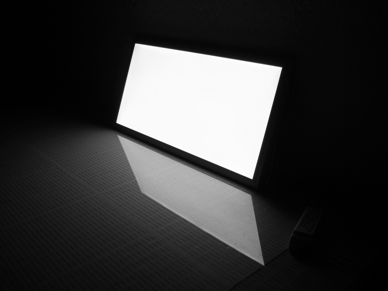 Plafoniera Neon Led 60 Cm : Led panel w rectangular surface mounted luminaire