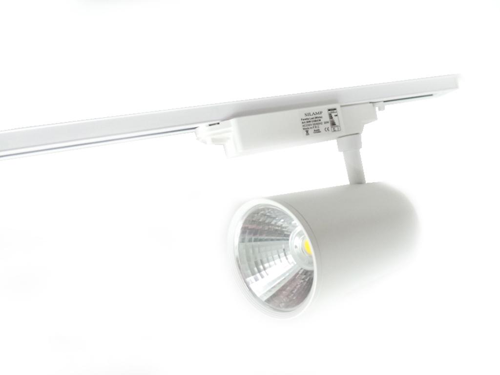 BIN-BIANCO-1.5M - Faretti e Fari LED - - Binario led 1.5 metri bianco per faretti illuminazione ...