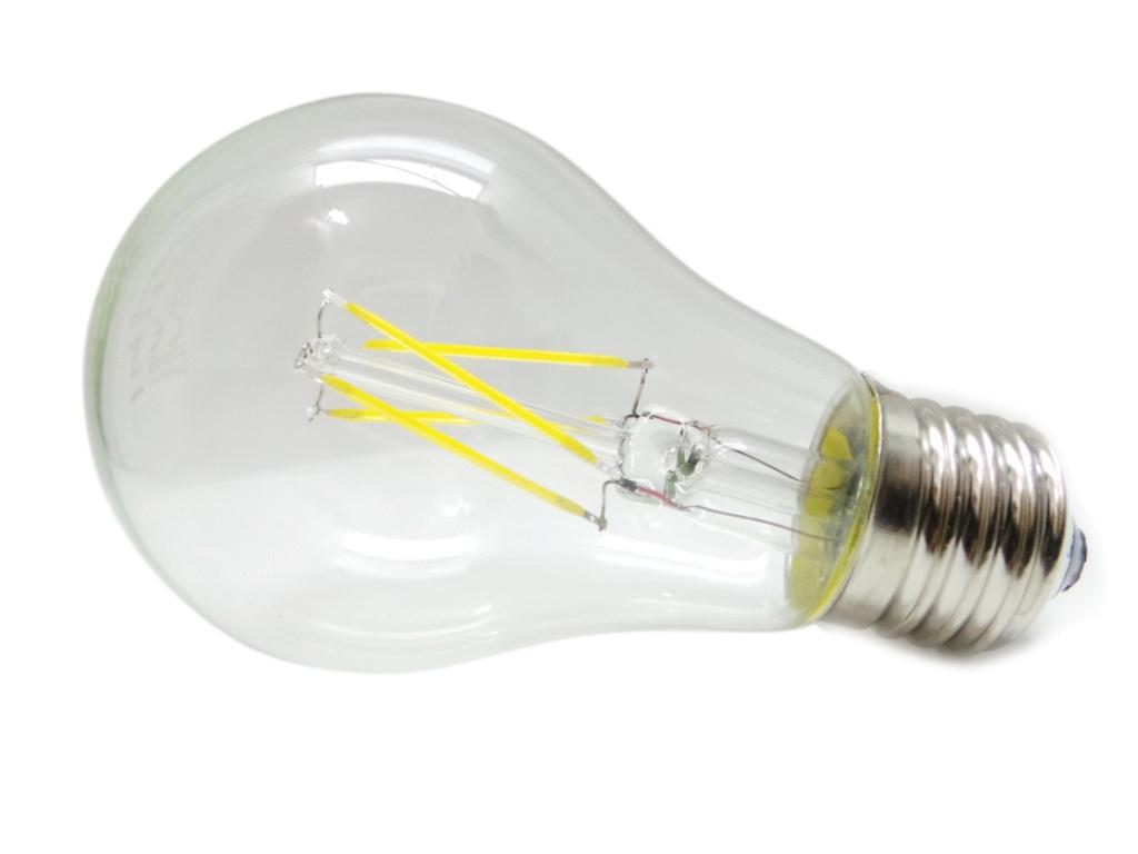 Lampadina Led Edison E27 6W Luce Calda e Fredda Attacco Grande ...