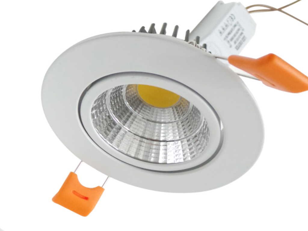 Recessed LED spotlight 12W COB LED ceiling light with power LED