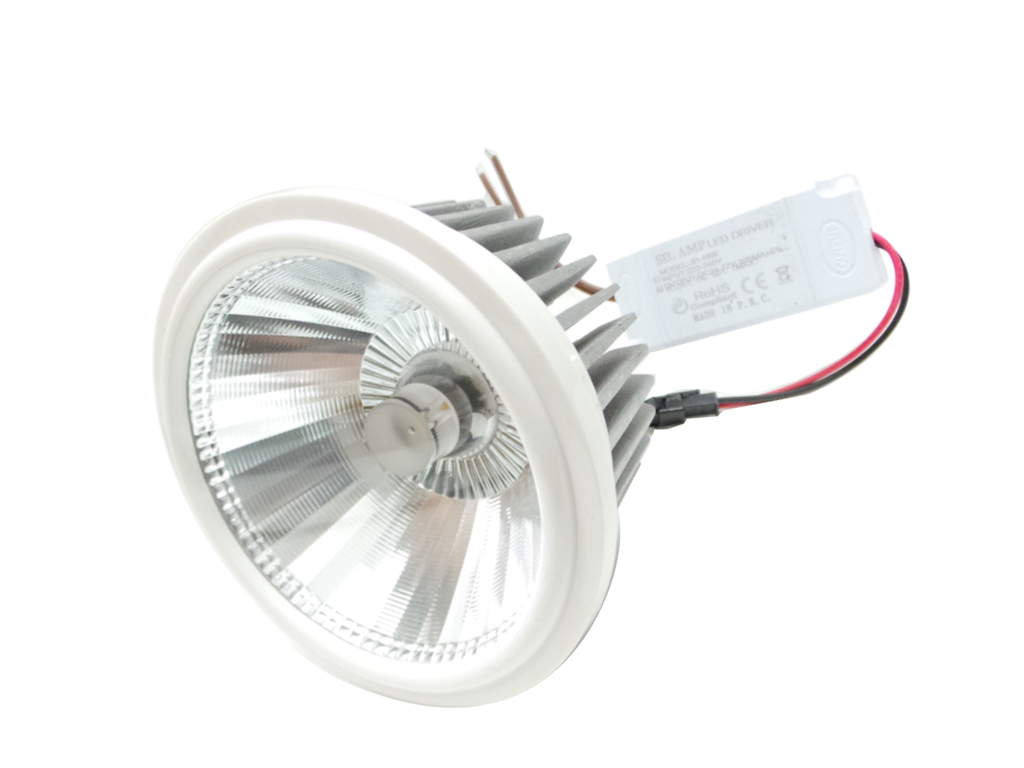 Spotlight lamp 18w Ar111 Led Headlight Led Recessed AR111 COB G53 with power supply