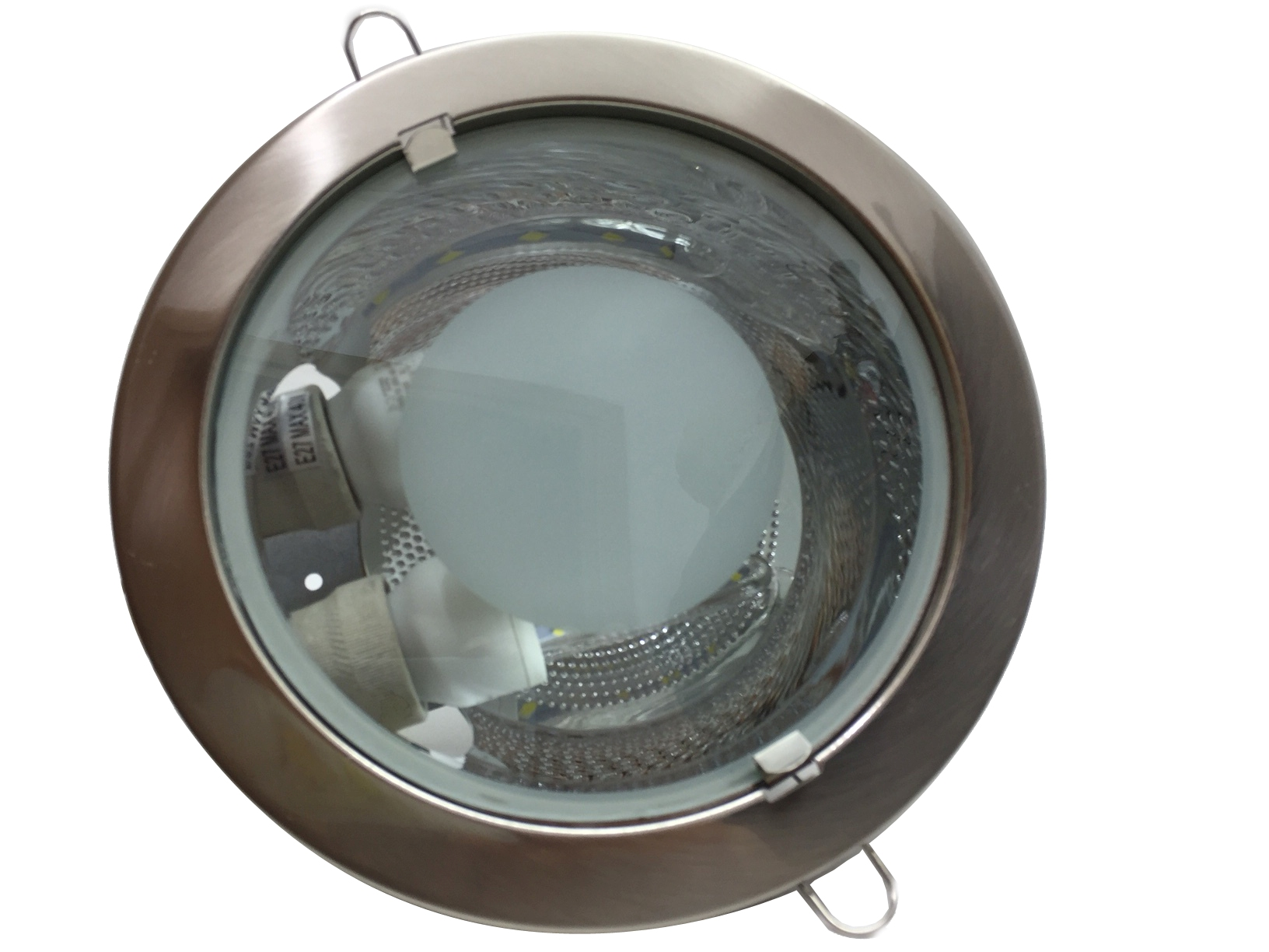 Spotlight recessed base lamps e27 Steel new design with frosted glass in the center