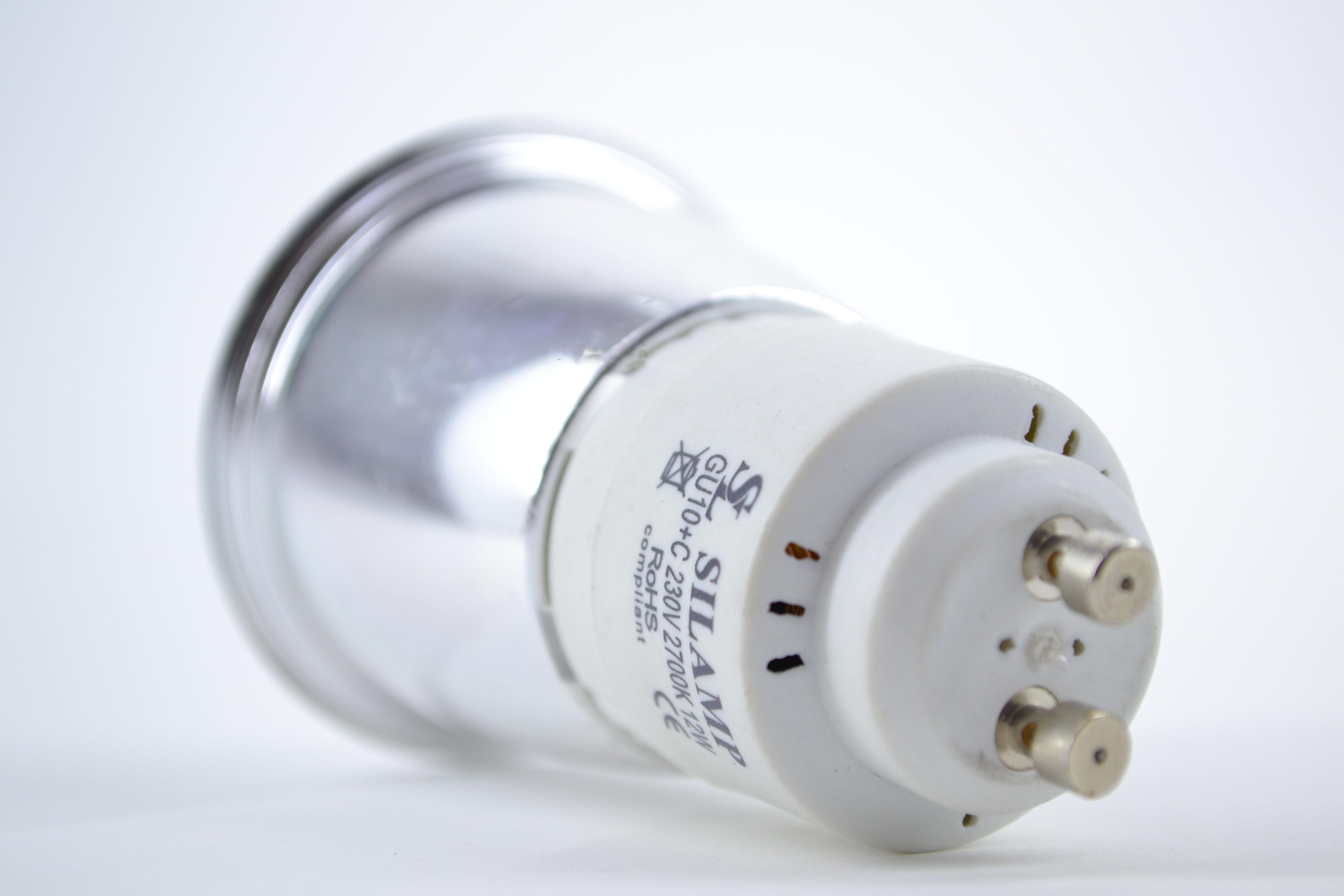 Gu10 12w offerte lampadine neon basso consumo silamp for Lampadine basso consumo philips