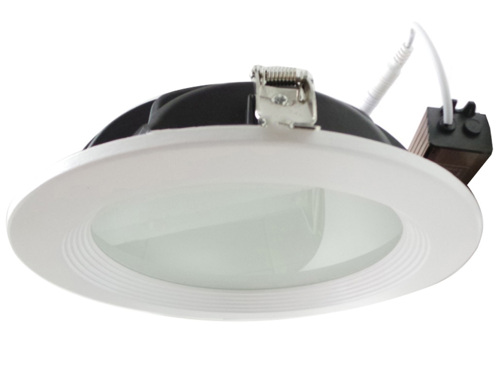 LED spotlight 30W recessed frosted glass thickness 60 mm diameter 223 mm