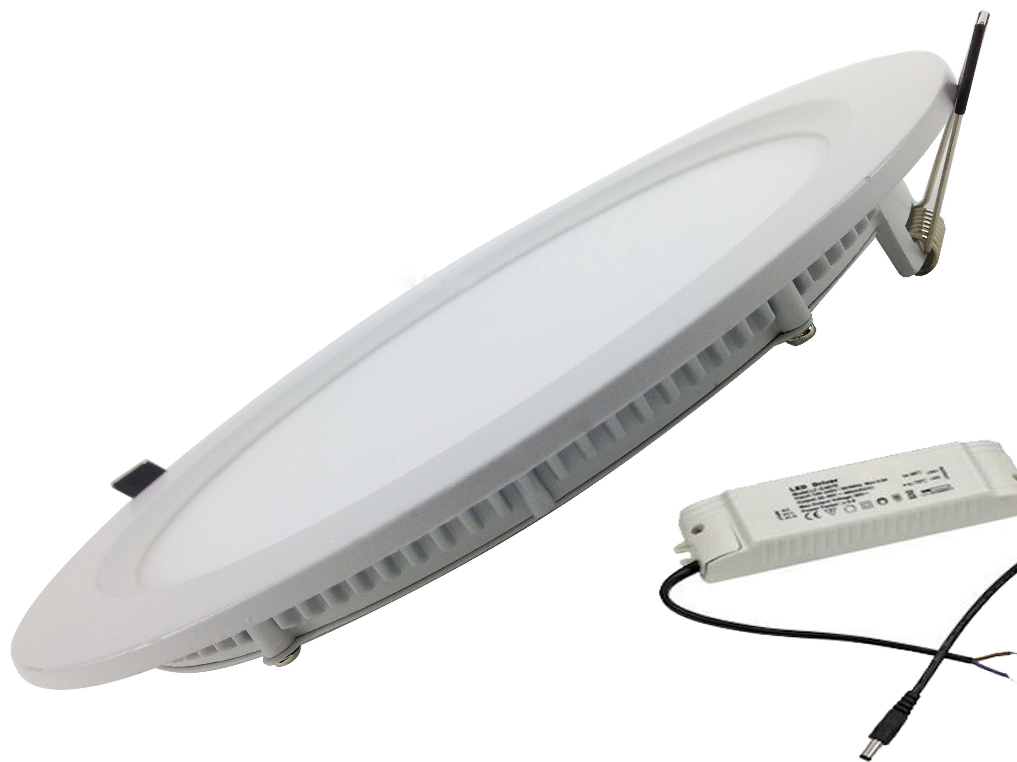 Plafoniere Da Incasso A Led : Faretto led da incasso 18w superslim diametro 22cm
