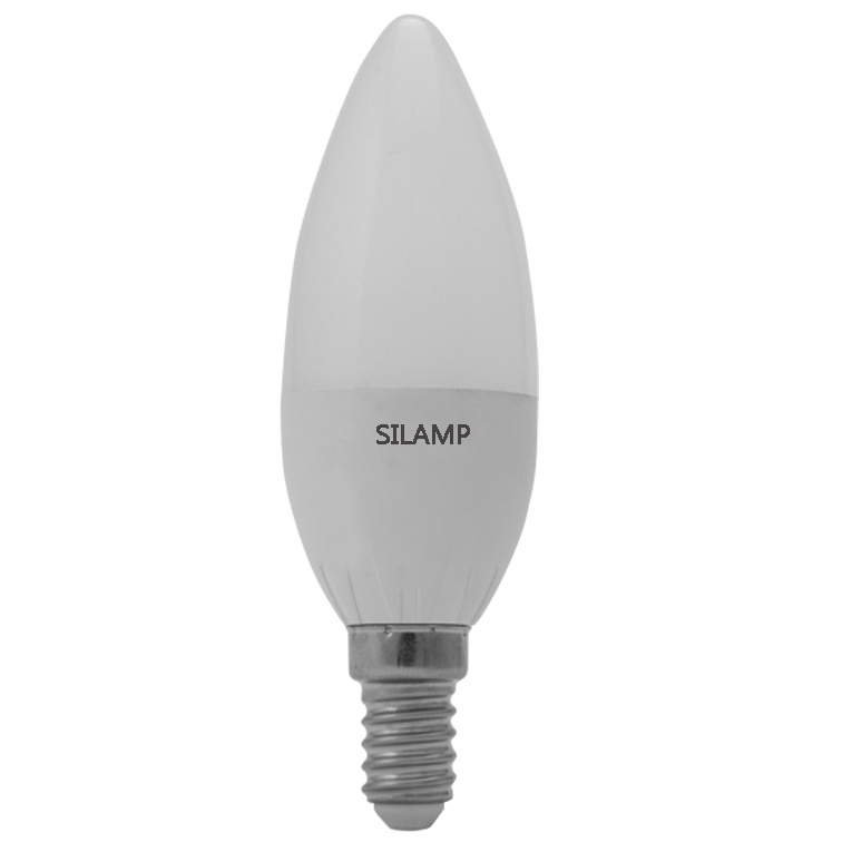 Led bulb 4w Candle olive B35, small step screw Brand name Silamp