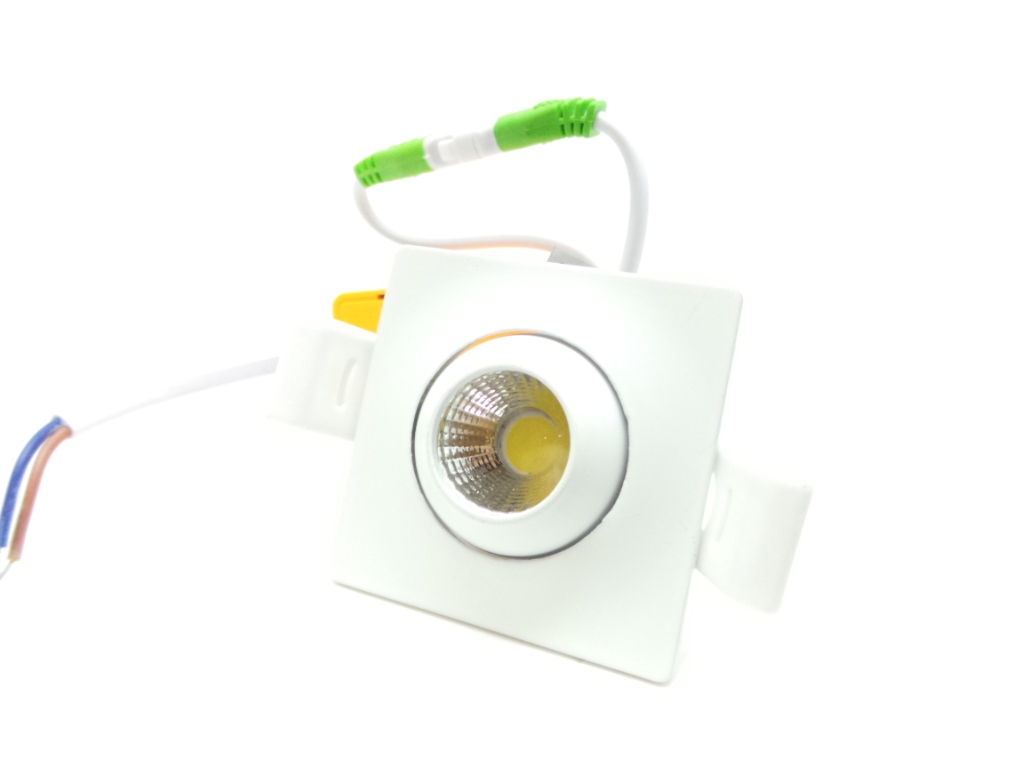Mini faretto led Quadrato 3W Cob faro led controsoffitto con alimentatore Led