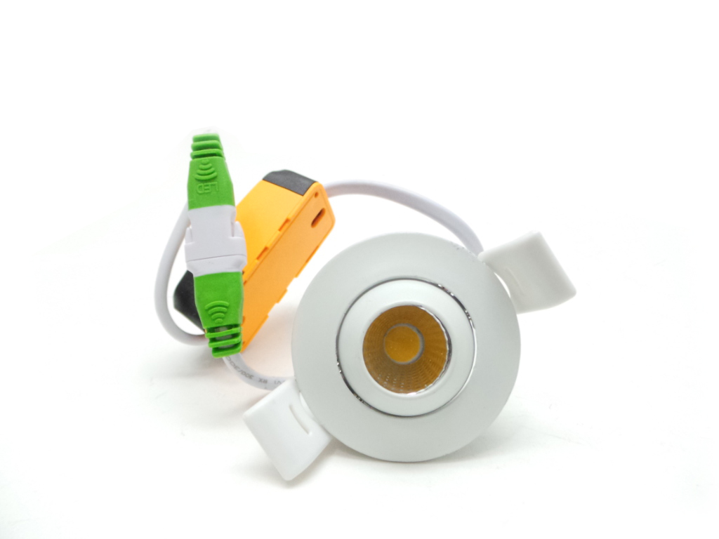 Mini faretto led tondo 3W Cob faro led controsoffitto con alimentatore Led