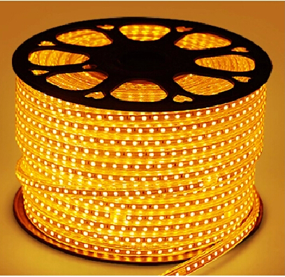 100metri Arancione orange Striscia Led 220V smd 5050 strip Bobina 6000 leds luce