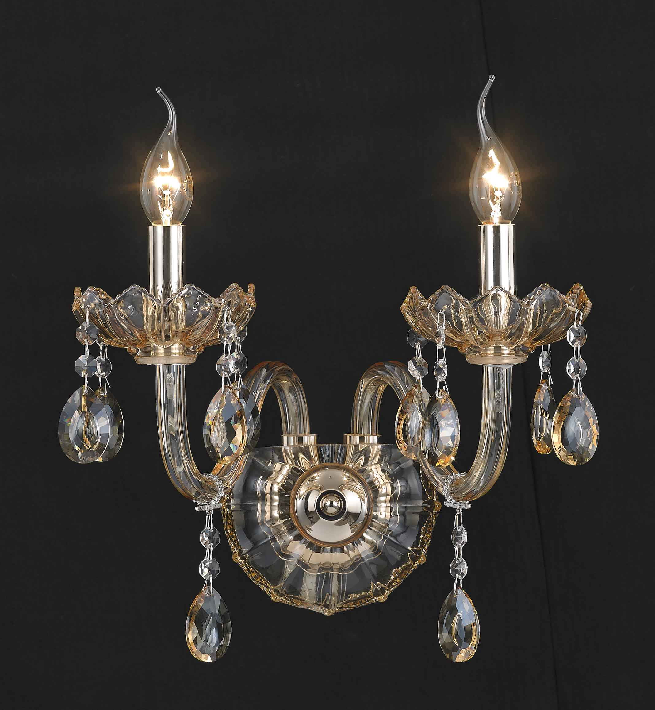 Wall lamp Applique in fabric Finish Brass Classic D2005-1