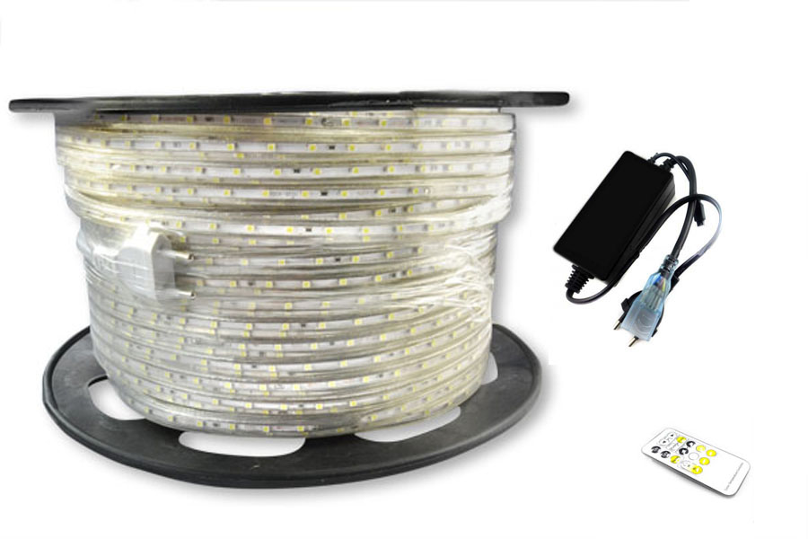 100m Led Strip 220V Tricolori Cold warm neutral News with the remote control