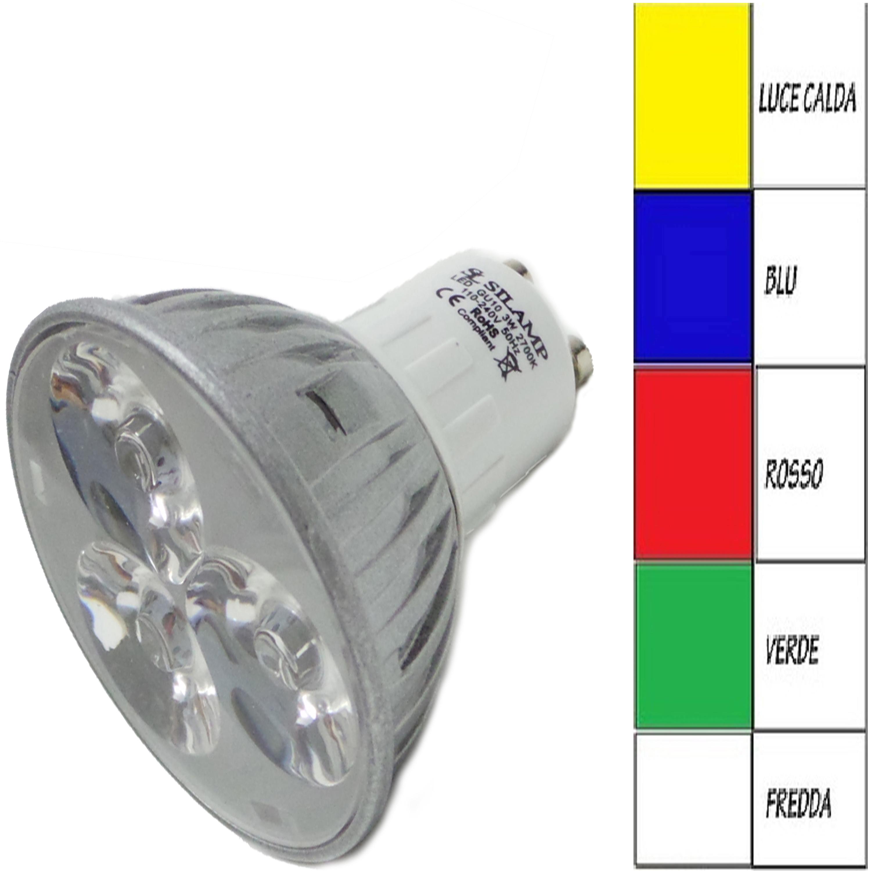 Gu103x1w offerte lampadine led silamp lampadine for Lampadine led 3 watt