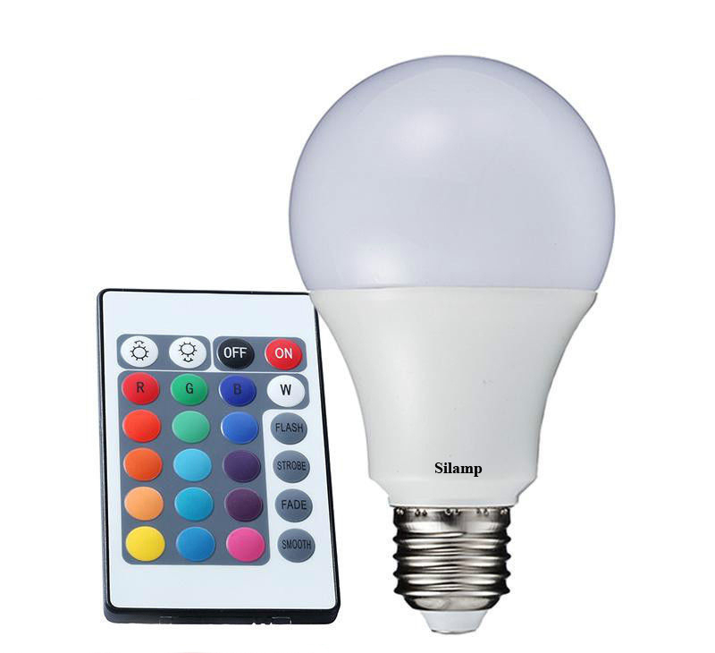 Led Rgb bulb 5W E27 with Remote control colour-changing