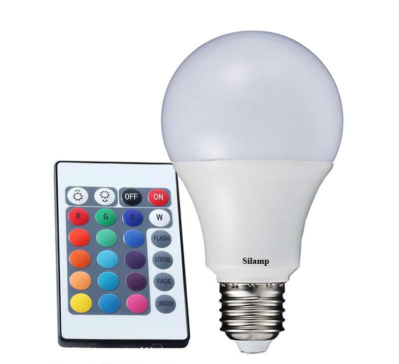 Lampada Led Con Telecomando.E27 Rgb 5w Offerte Lampadine Led Silamp Lampadina Led Rgb 5w