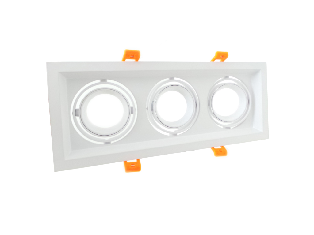 Portafaretto gu10 recessed spotlight gu10 version triple