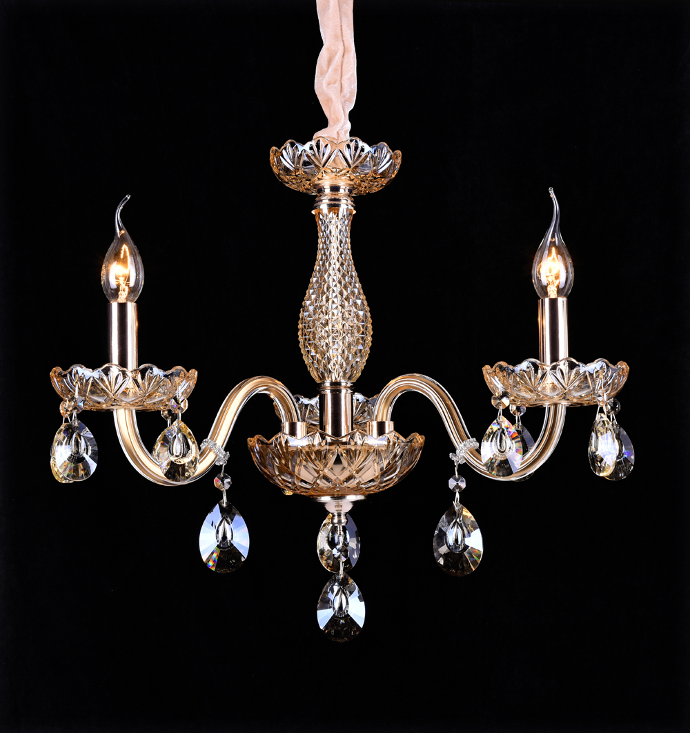 Chandelier 3 light lamp glass Crystal 2012-3