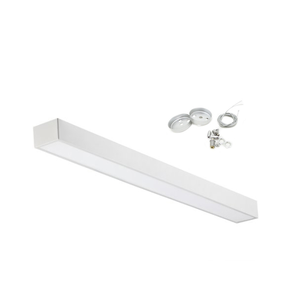 Led surface-mounted luminaire Silamp suspension 48W included cable steel suspension