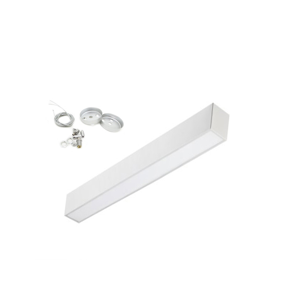 Led surface-mounted luminaire suspension 48W included cable steel suspension pi-3-24w