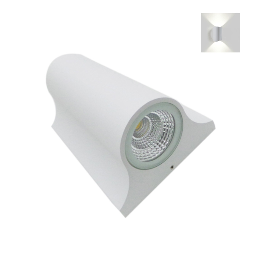 Lámpara Led con doble luz de la lámpara de pared con Led 10W, montado en la pared 230v led cob
