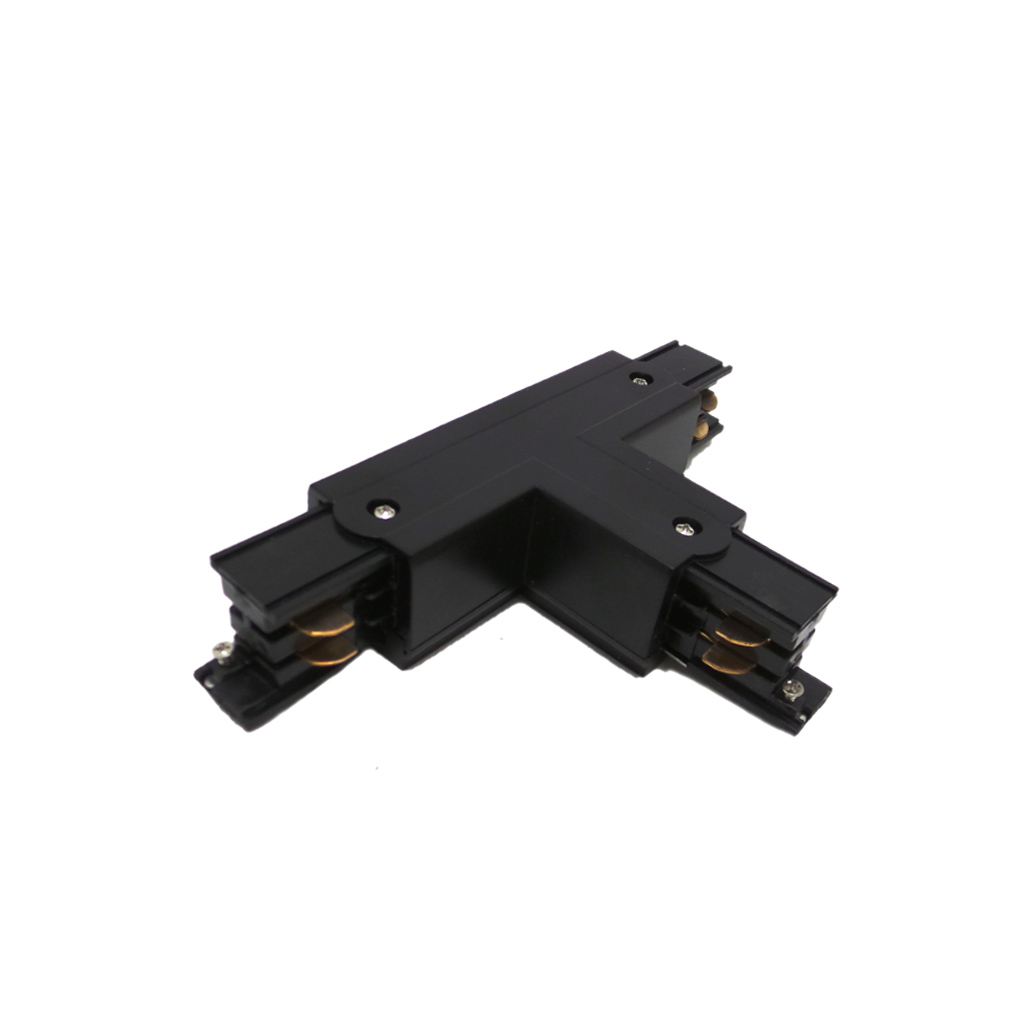Connector T three-Phase spotlights Binary Led Black Joints lighting