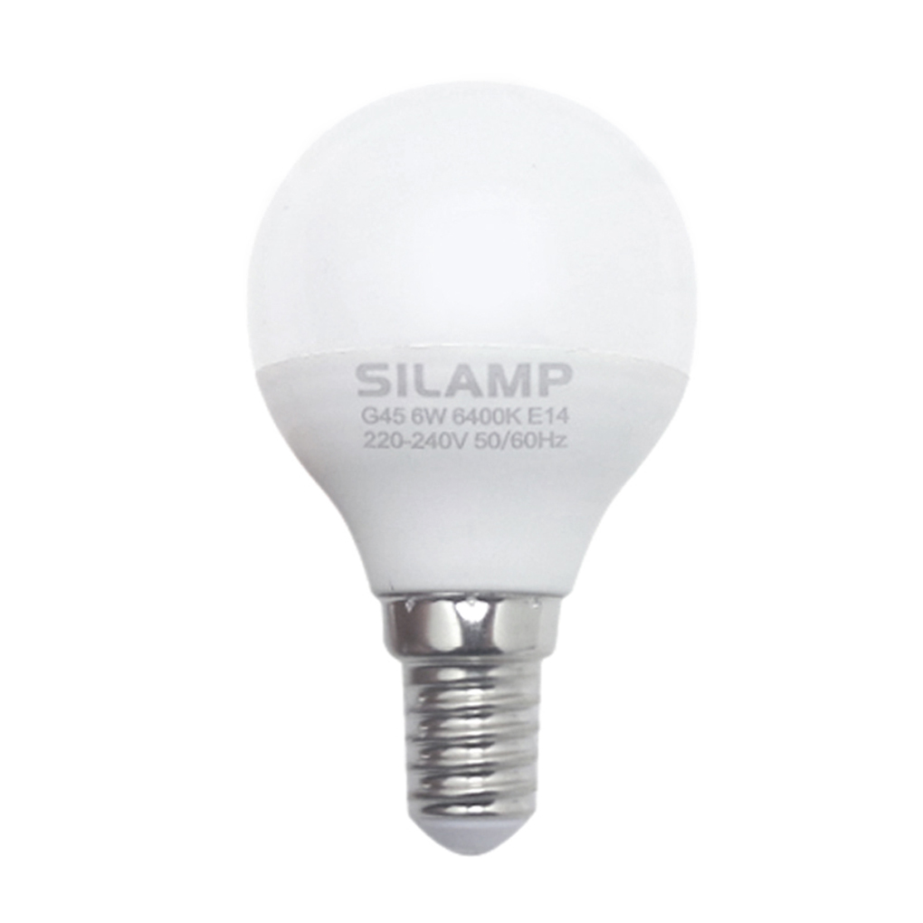 - Led bulb E14 6w miniglobo G45 220v step attack Big Silamp
