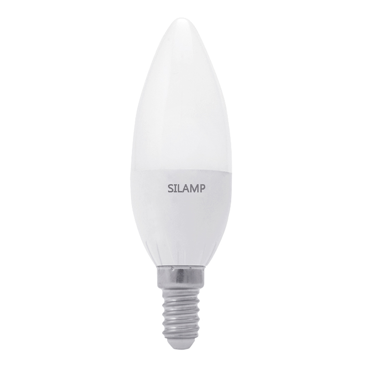 Led bulb 6w Candle olive B35, small step screw Brand name Silamp