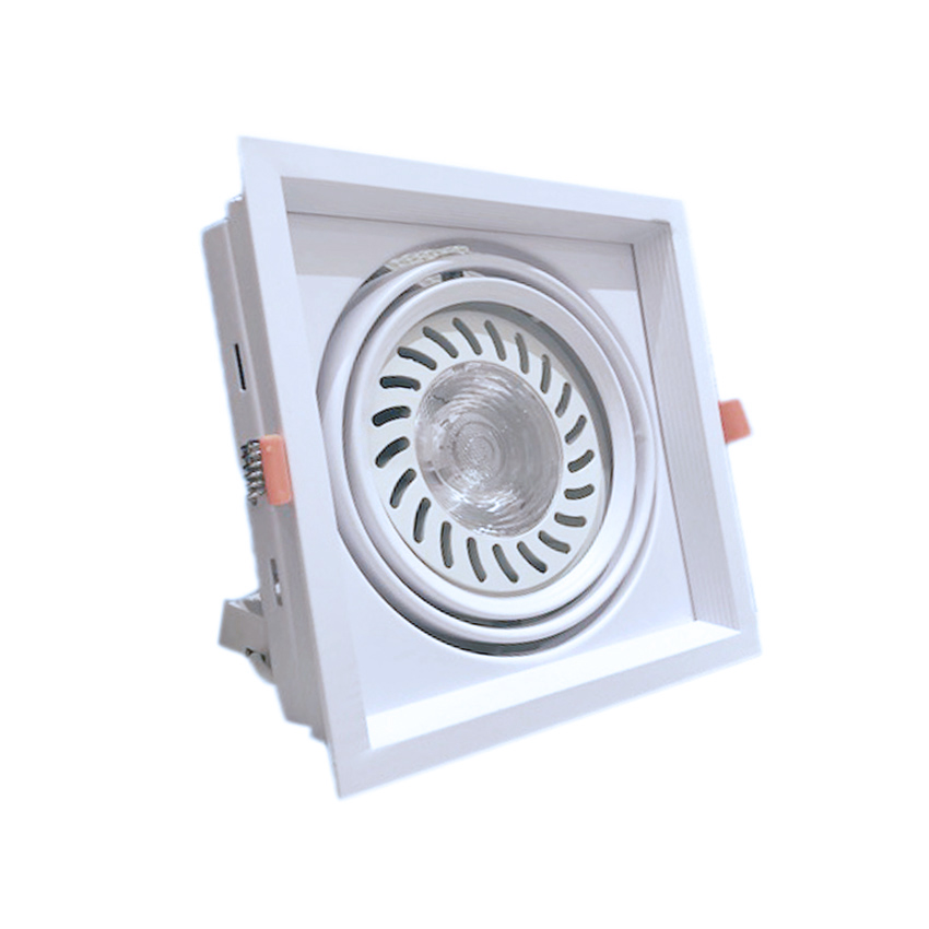 Spotlight, Led recessed 18W led floodlight CoB recessed square type ar111