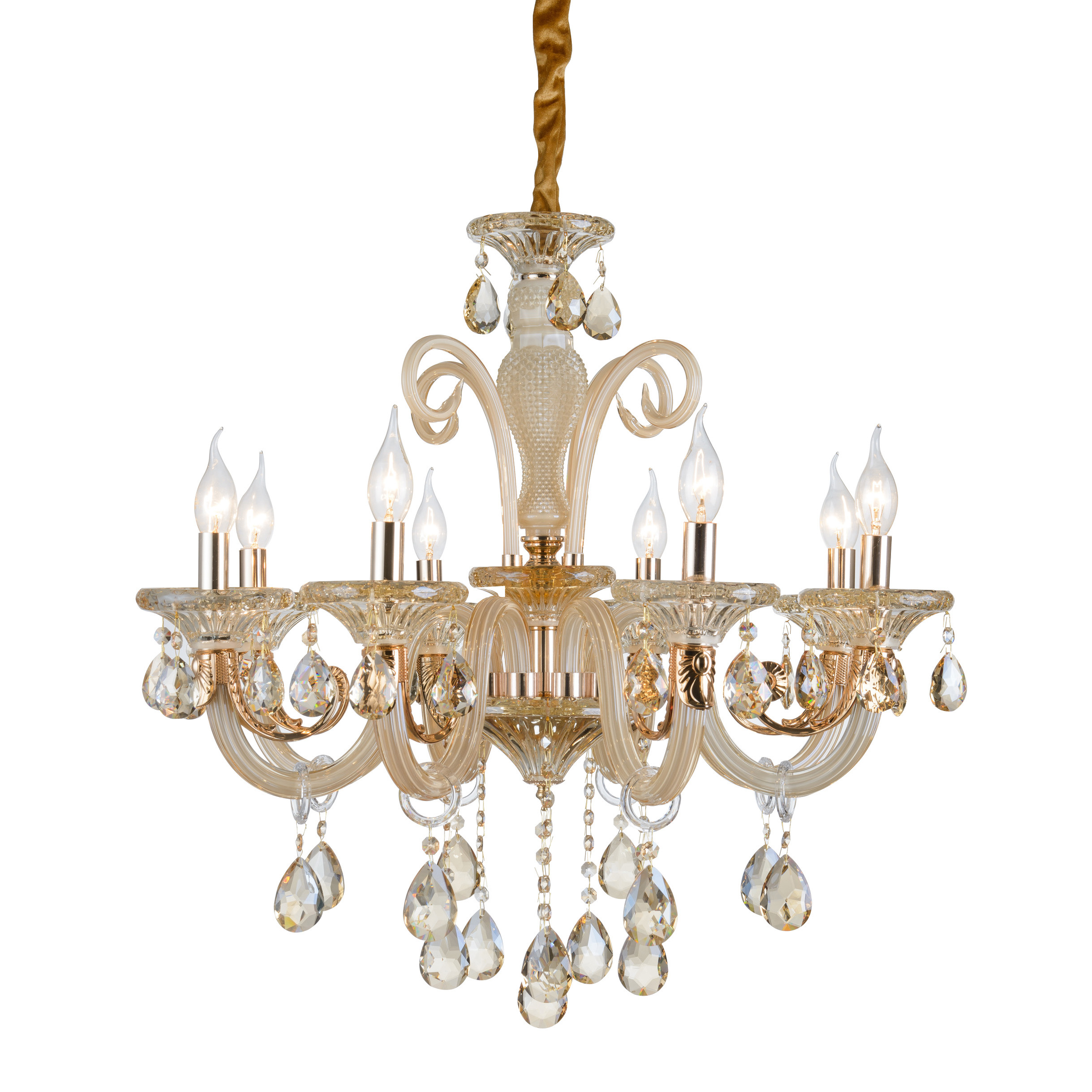 Chandelier 8 lights lamp clear Crystal glass 2013-8