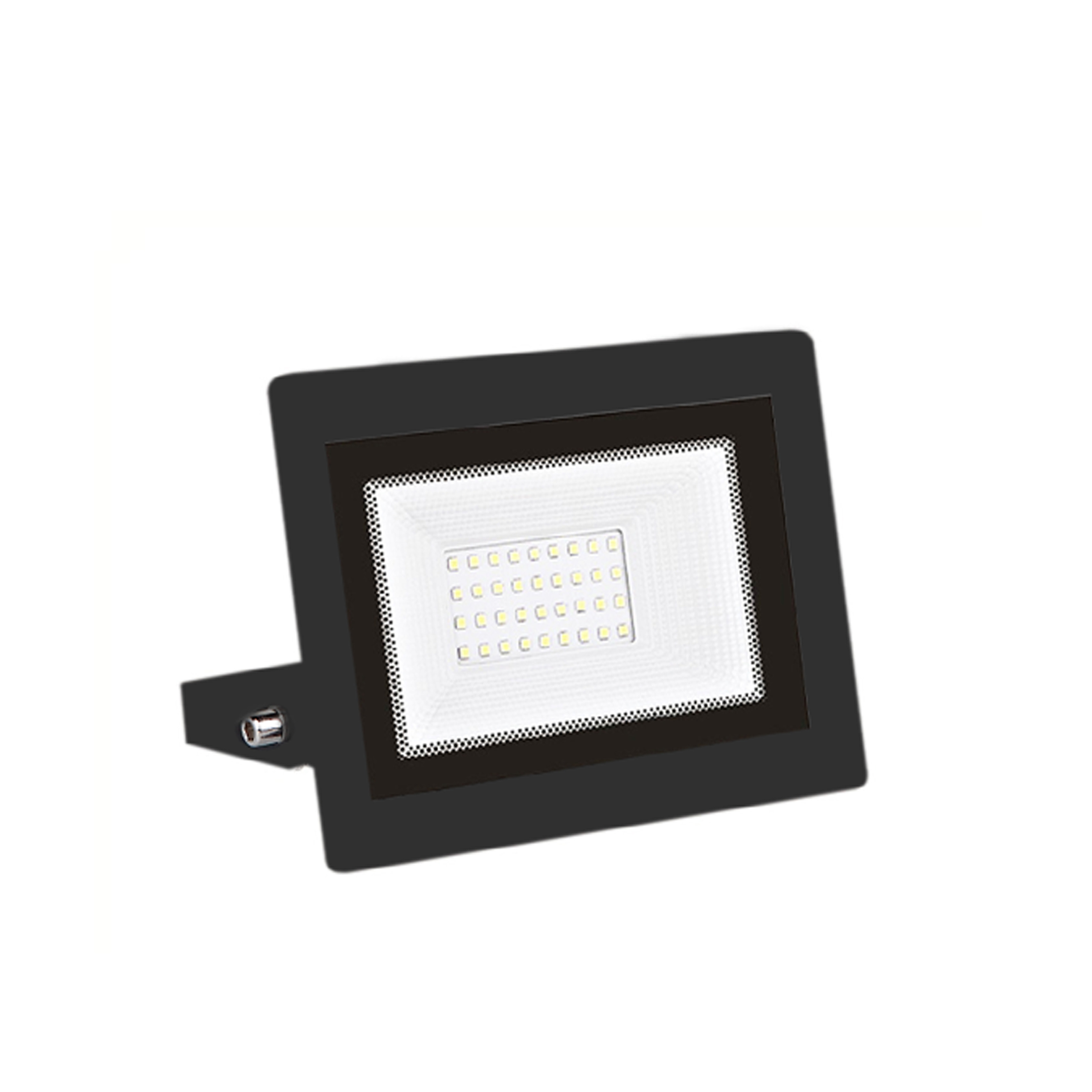 LED floodlight 30W, Ultra-Slim Headlights to the outside and the inside with Led lamp Black