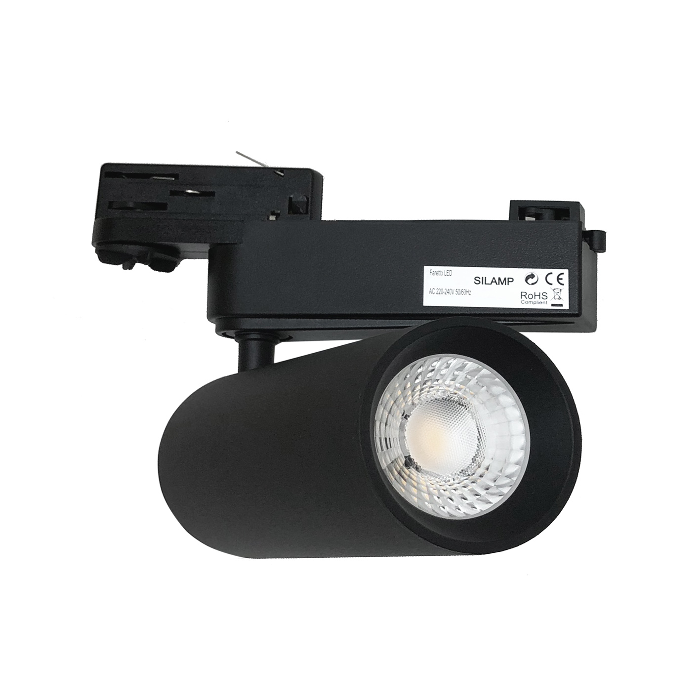 LED spotlight rail, three-phase Black 30w FB-19-30W