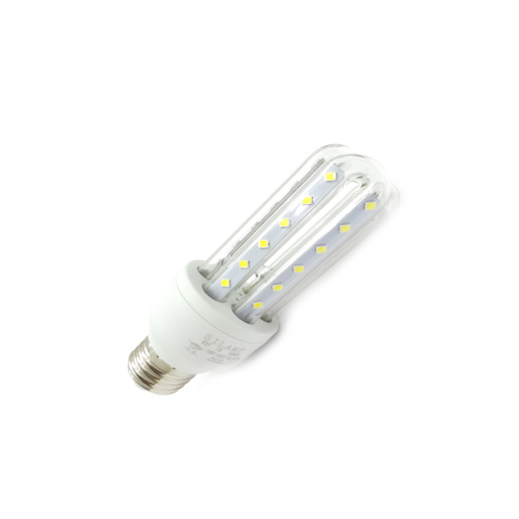 LED bulb e27 3tubi 7W Cold light and neutral Attack Big Grosso