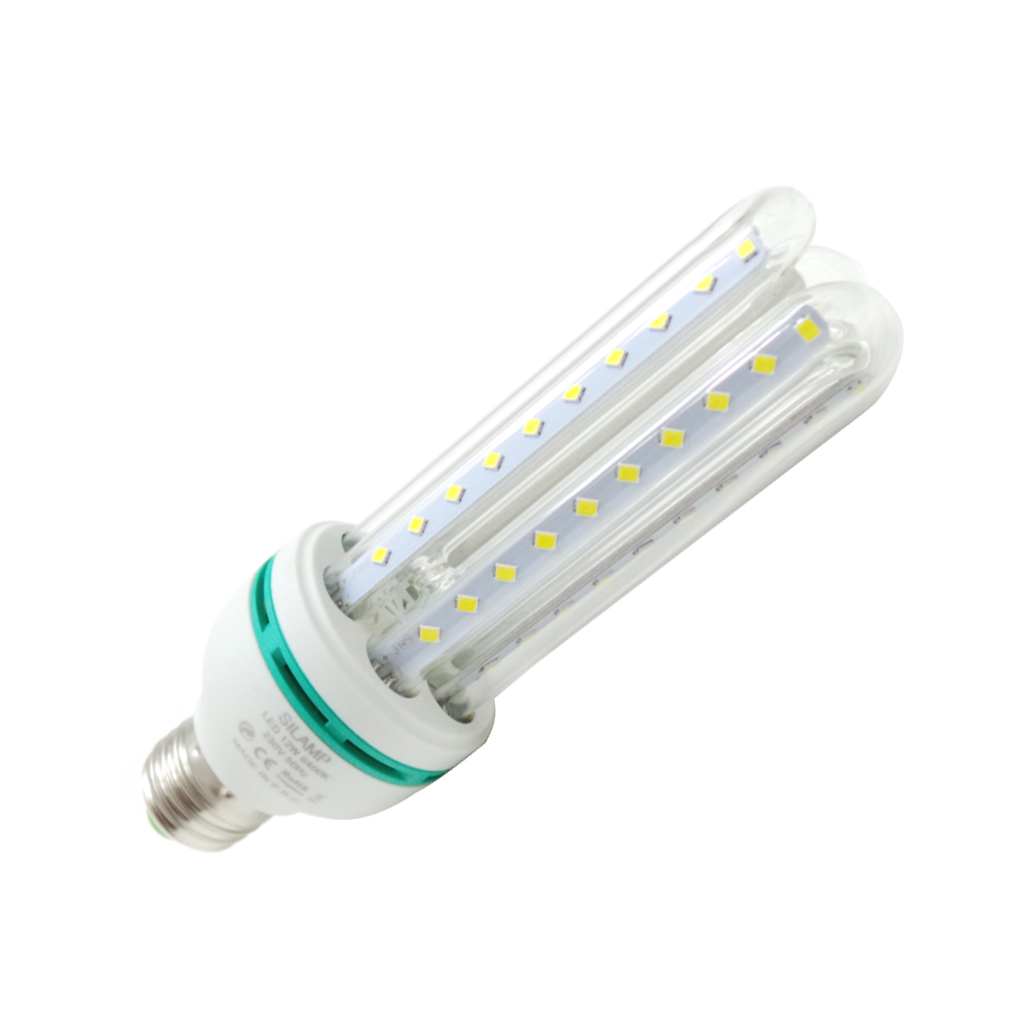LED bulb e27 3tubi 12W Natural Light and cold 230v smd 60led Brand Silamp