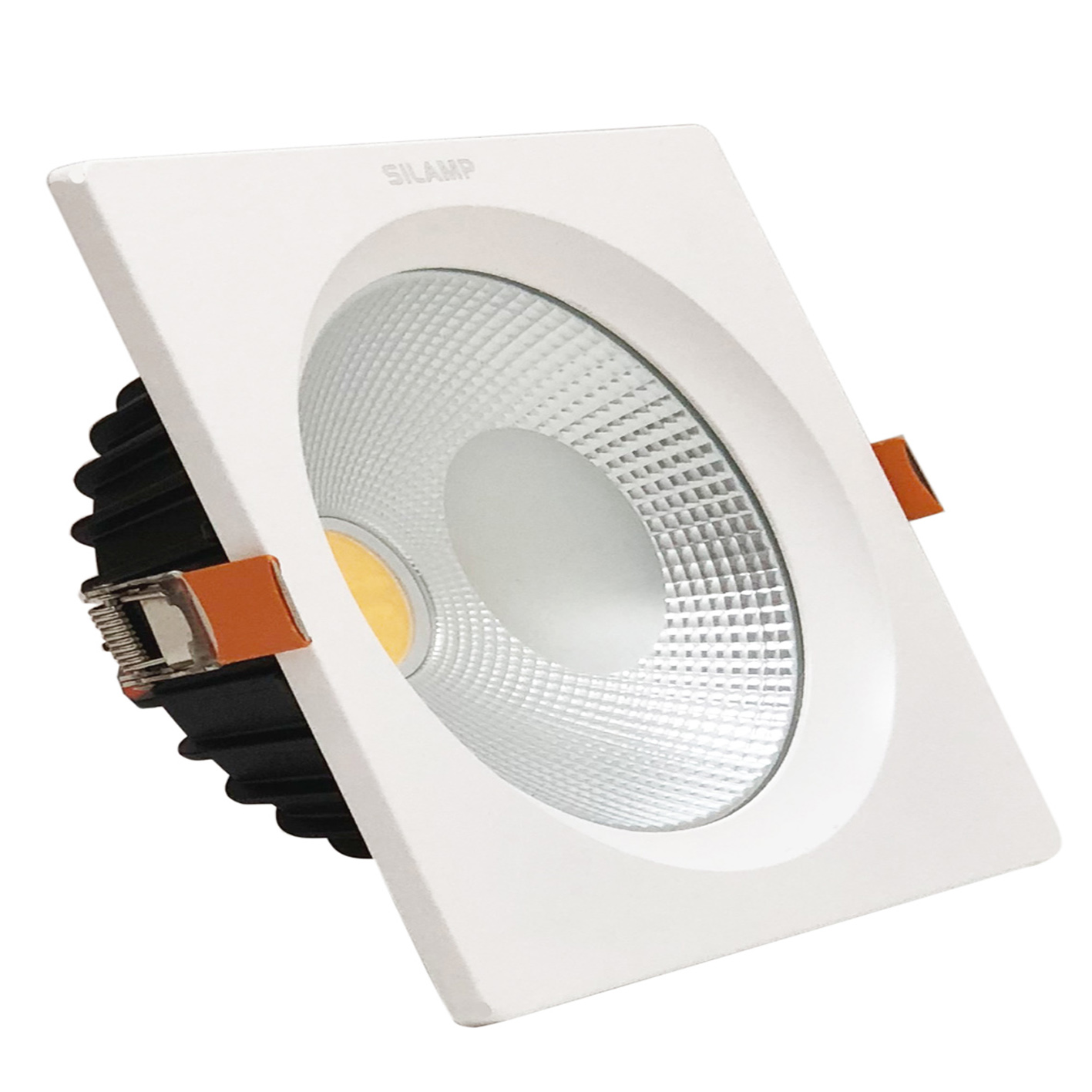 Faro led da incasso 40W Quadrato controsoffitto Cob incluso Driver