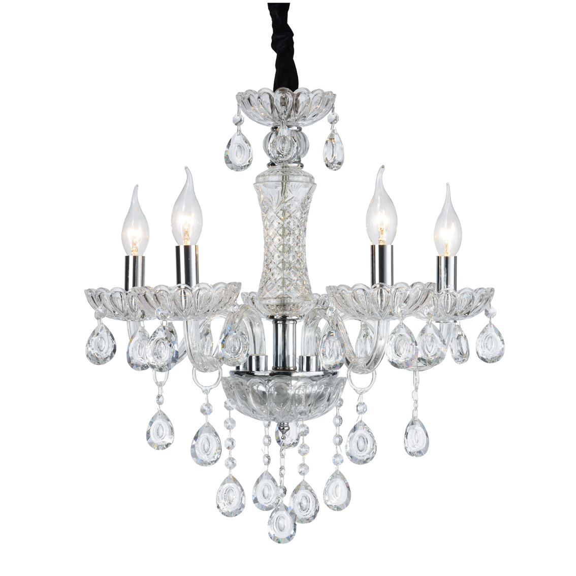 Chandelier ceiling Luxury Baroque Crystal Clear 5 Arms 2081-5