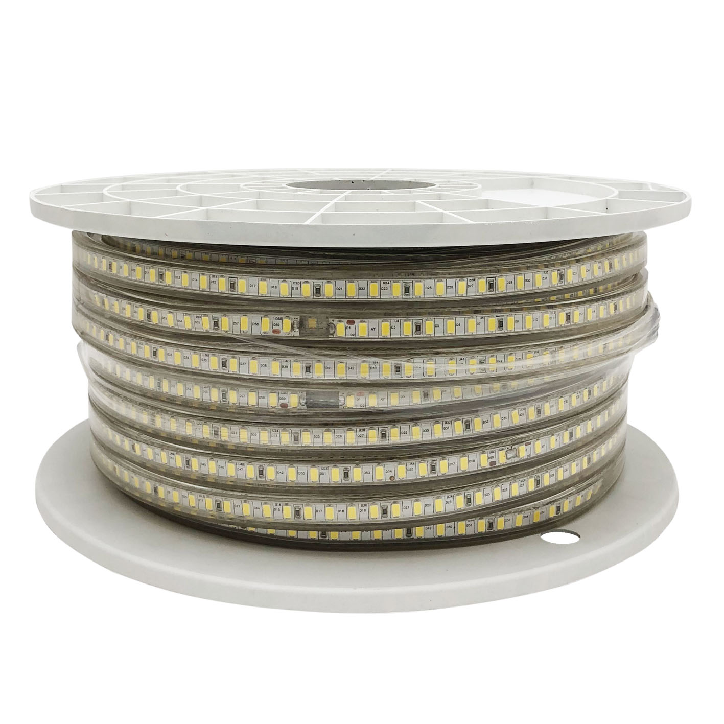 50m Led Strip 220V smd 5730 strip Coil 6000 leds 12w/m