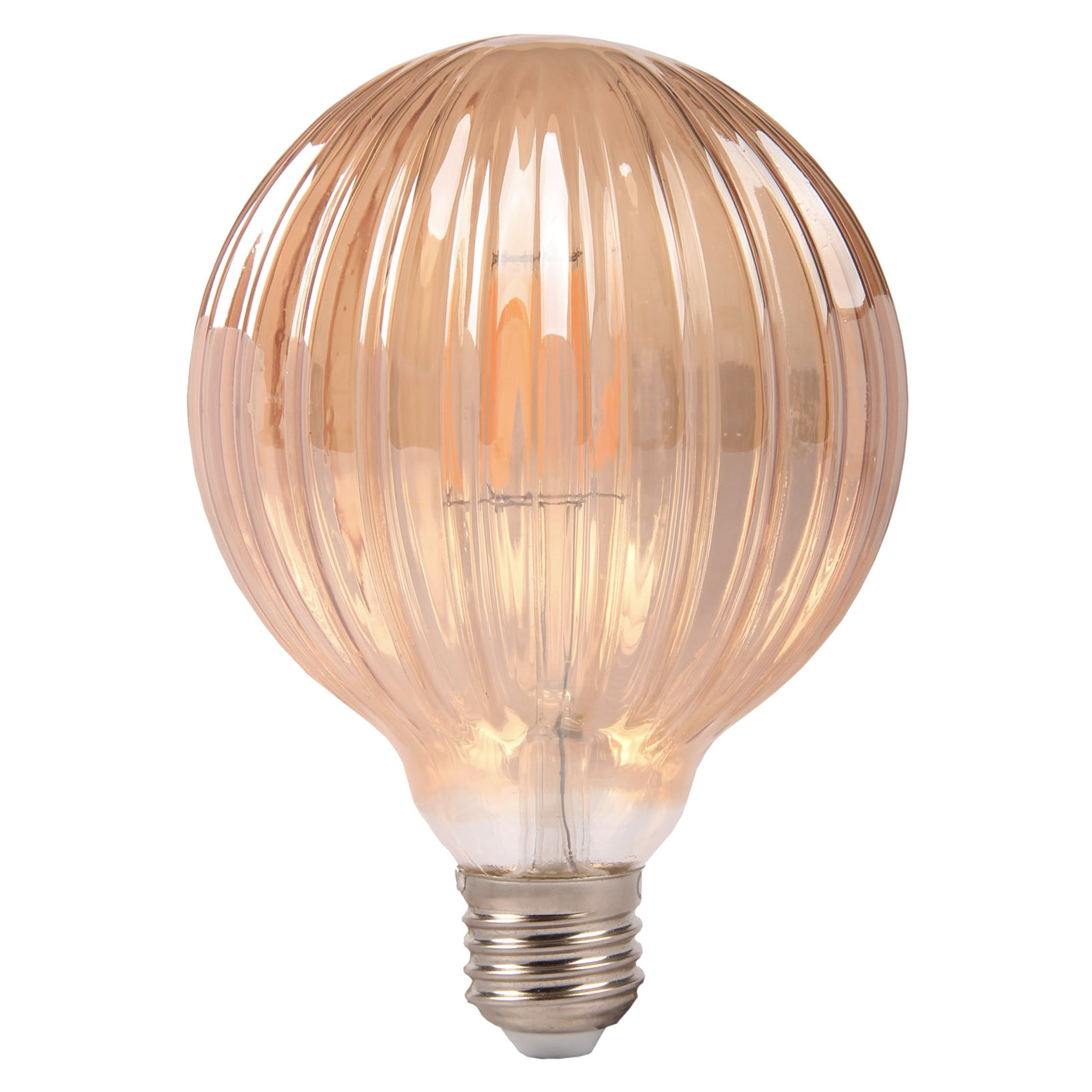Light bulb, Vintage LED filament E27 6W ball amber elegant Pumpkin Pumpkin Lamp