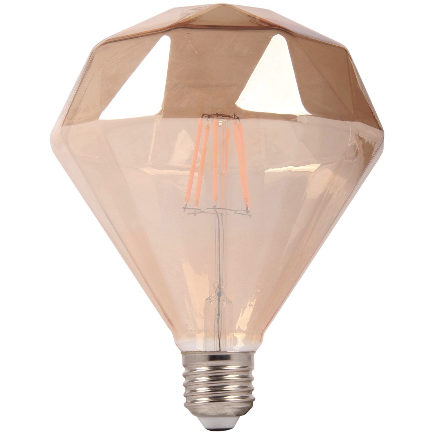 Glühlampe LED filament E27 6W gelbbraun elegante Diamond Lamp