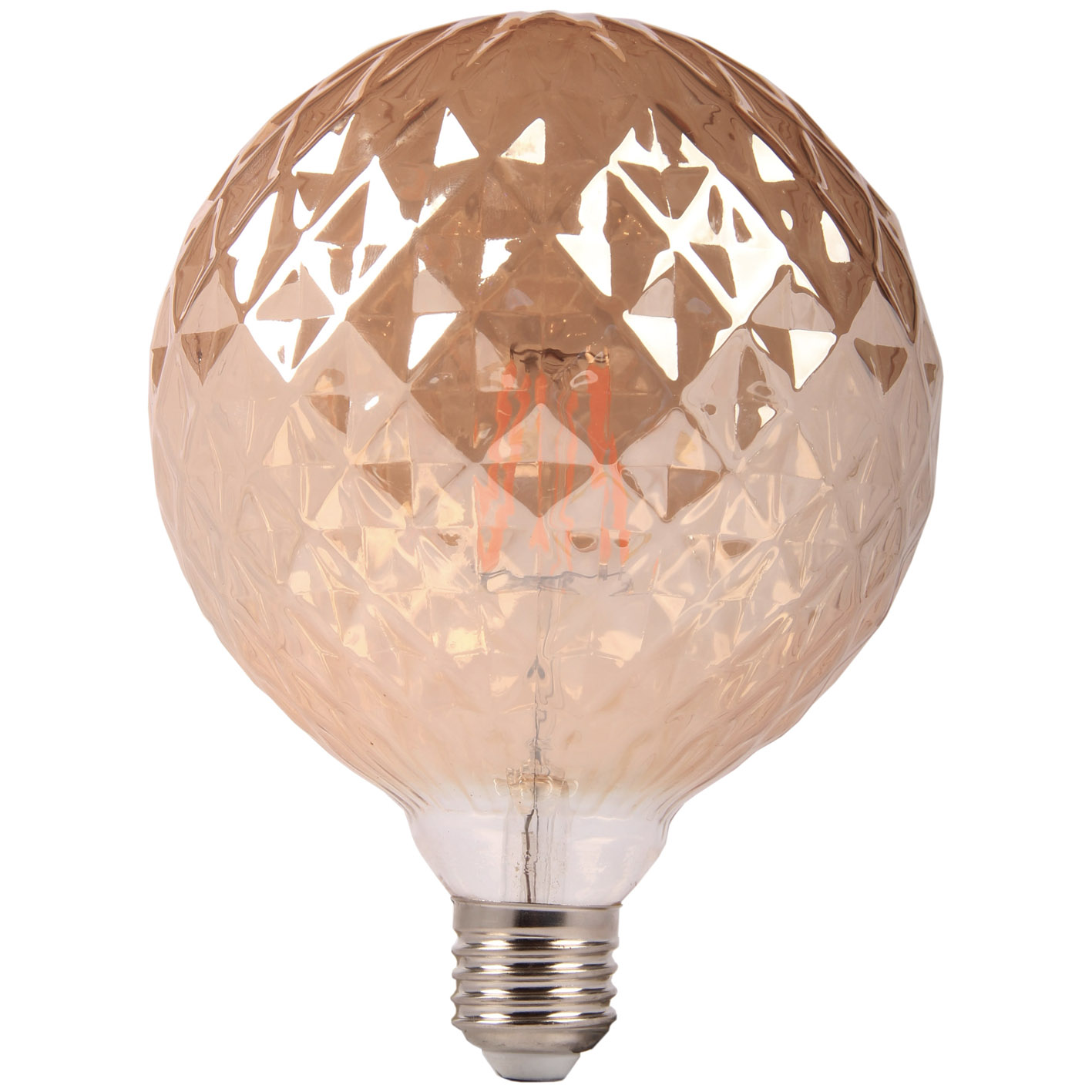 LED bulb filament-E27 6W ball G125 amber elegant Lamp
