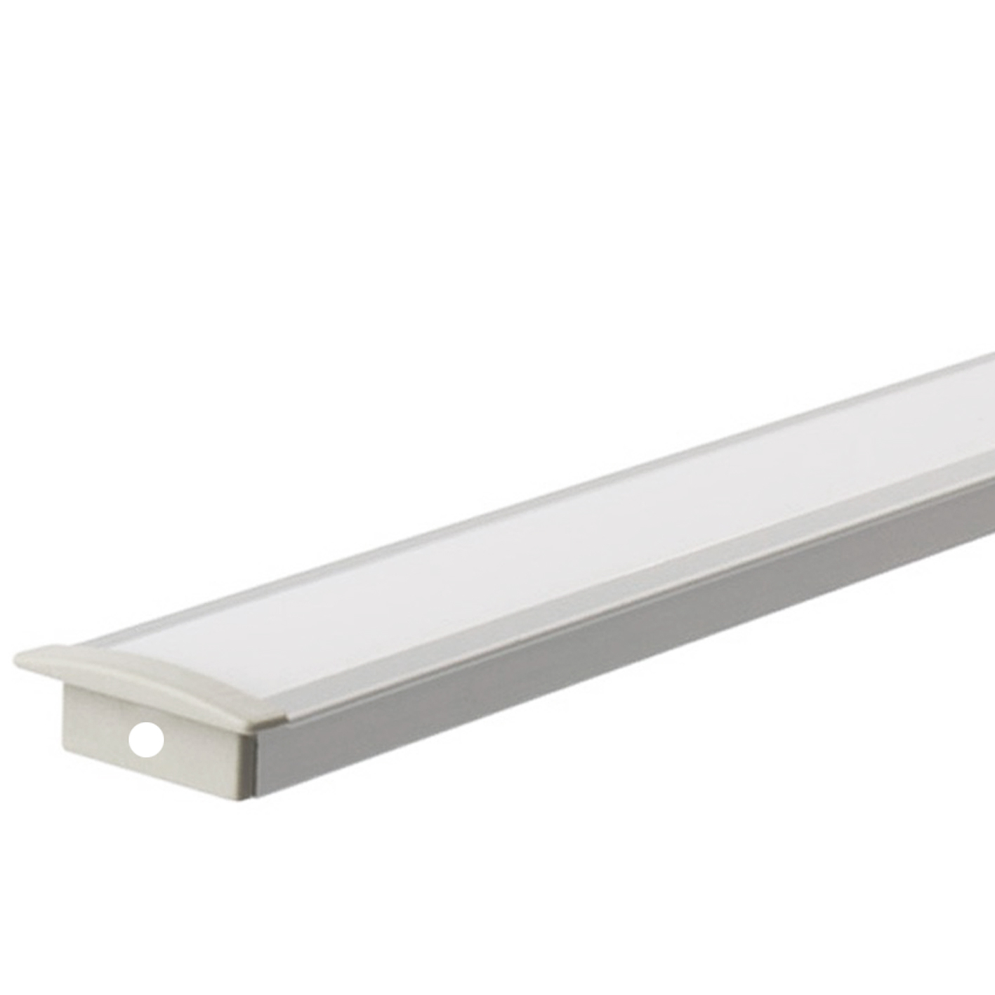 Profile for Strip led 2m BAR recessed Aluminum Matte Cover MIN 5 PCS