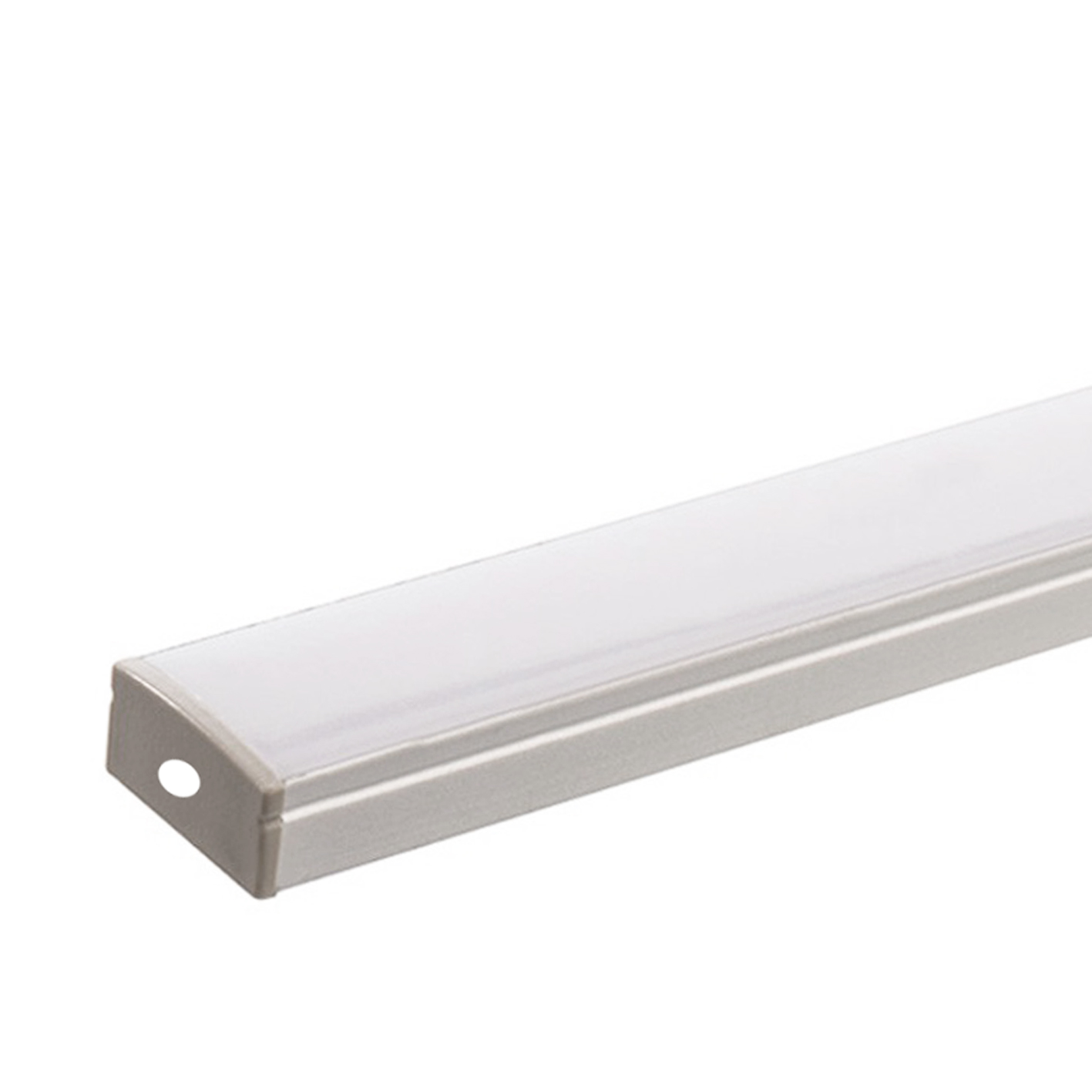 Profile for Strip led twin 2cm 1mt BAR Aluminum Matte Cover