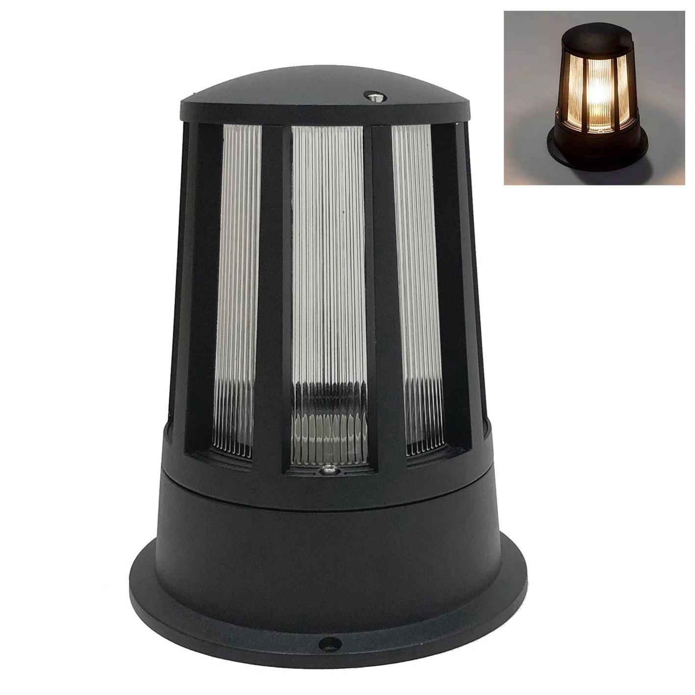 Faro Modern Garden Outdoor IP65 Black bulb e27 LED FG-2-BLACK