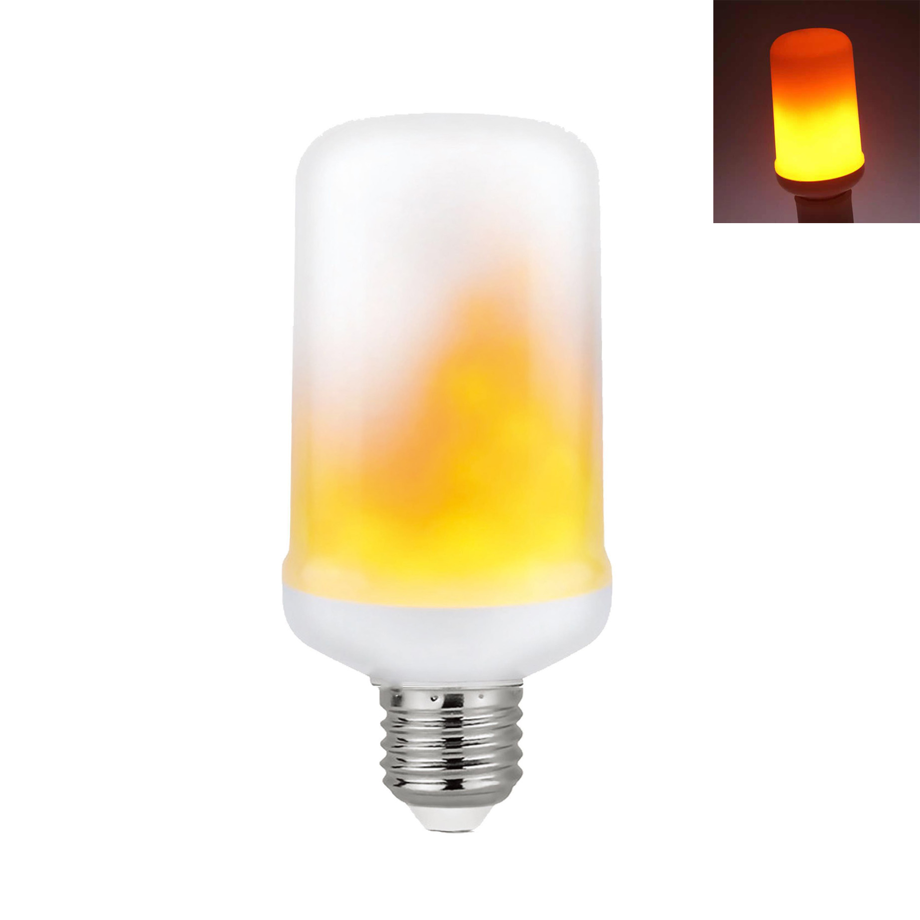 LED bulb E27 5w flame-effect for decoration