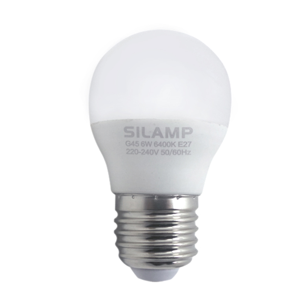 -Led bulb E27 8w miniglobo G45 220v step attack Big Silamp